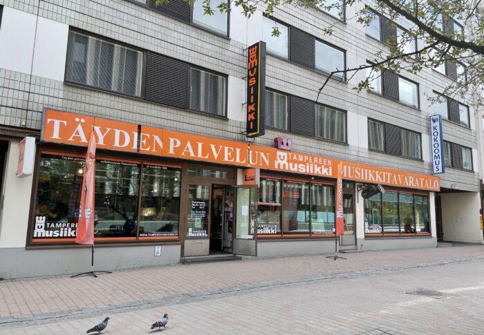 タンペレの楽器店 Tampereen Musiikki 行ってみたよ