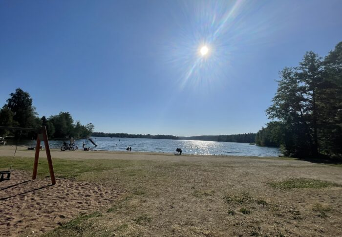 初めての湖 Riihiniemen uimaranta 行ってみたよ