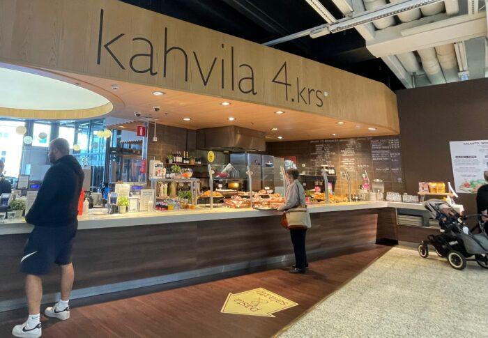 タンペレのデパート Sokos内カフェ Kahvila-Ravintola 4.krs 行ってみたよ