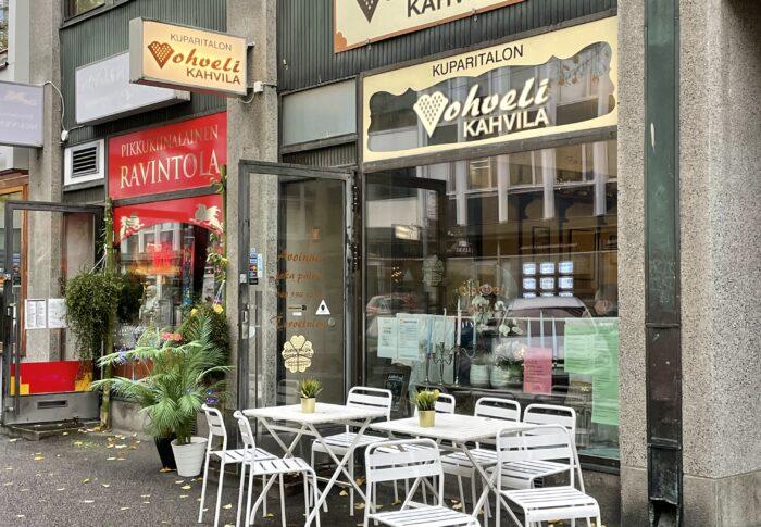 タンペレのおすすめカフェ Kuparitalon Vohvelikahvila 行ってみたよ